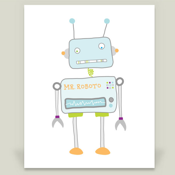 """Mister Roboto"" Art Print by BBP Artist Yellow Chair Design"