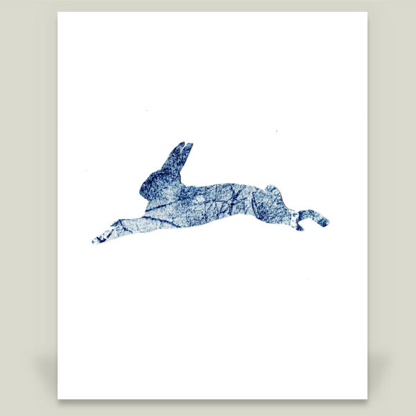 """Running Hare"" Art Print by BBP Artist portraitofnature"