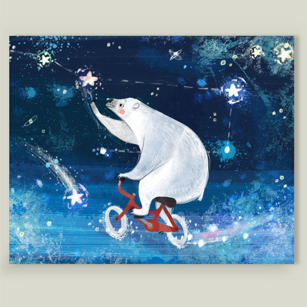 """Lullaby for a polar bear"" Art Print by Anna Chernyshova"