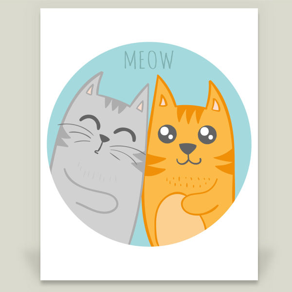 """Cute cats"" Art Print by BBP Artist brynza"