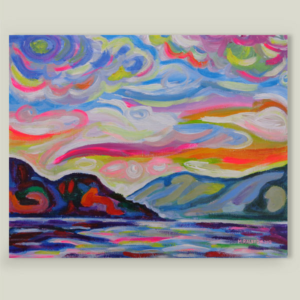"""Lake Okanagan From Peachland"" Art Print by BBP Artist Morgan Ralston"