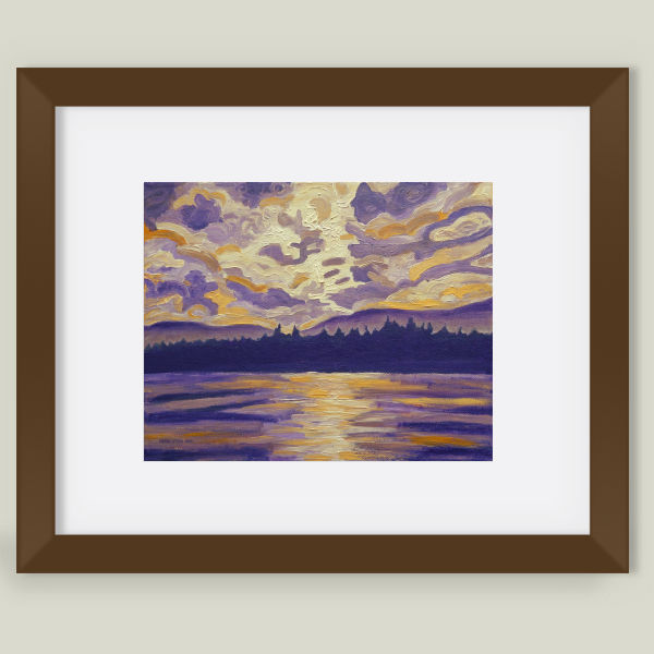 """Okanagan Landscape in Purple"" Framed Art Print by BBP Artist Morgan Ralston"