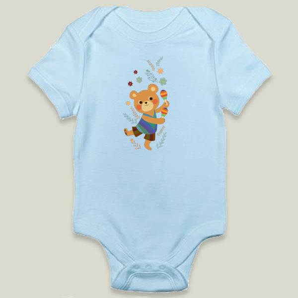 """Dance Bear"" Onesie by BBP Artist Xiran Wang"