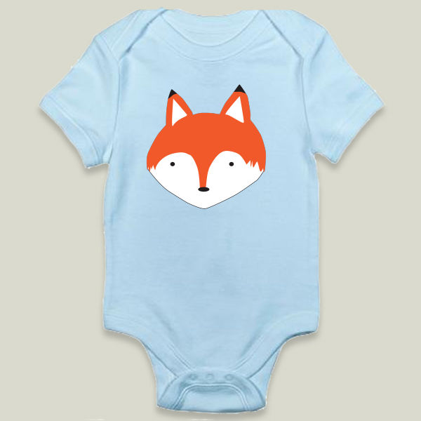 """Mister Fox"" Onesie by BBP Artist Yellow Chair Design"