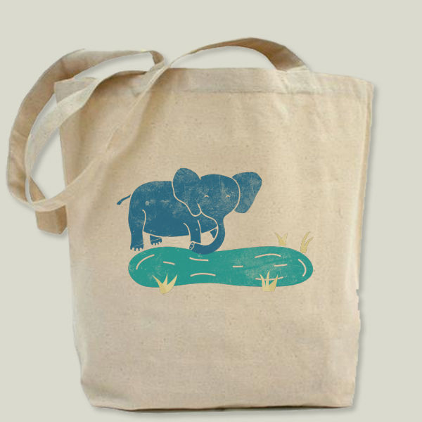 """Elephant Life"" Tote Bag by BBP Artist Well Designed"