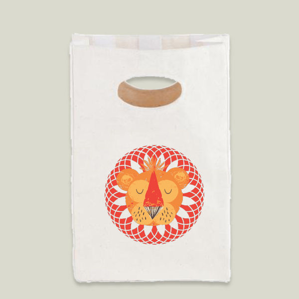 """Lion"" Lunch Bag by BBP Artist Helen Black Designs"
