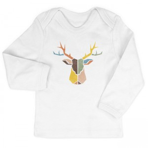 Modern Distressed Deer Head I Infant Long-Sleeve T-Shirts by laurenmary on BoomBoomPrints