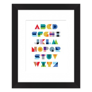 Geometric Alphabet Framed Art Print by laurenmary on BoomBoomPrints