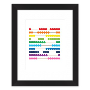 Waldorf Montessori Abacus Framed Art Print by laurenmary on BoomBoomPrints