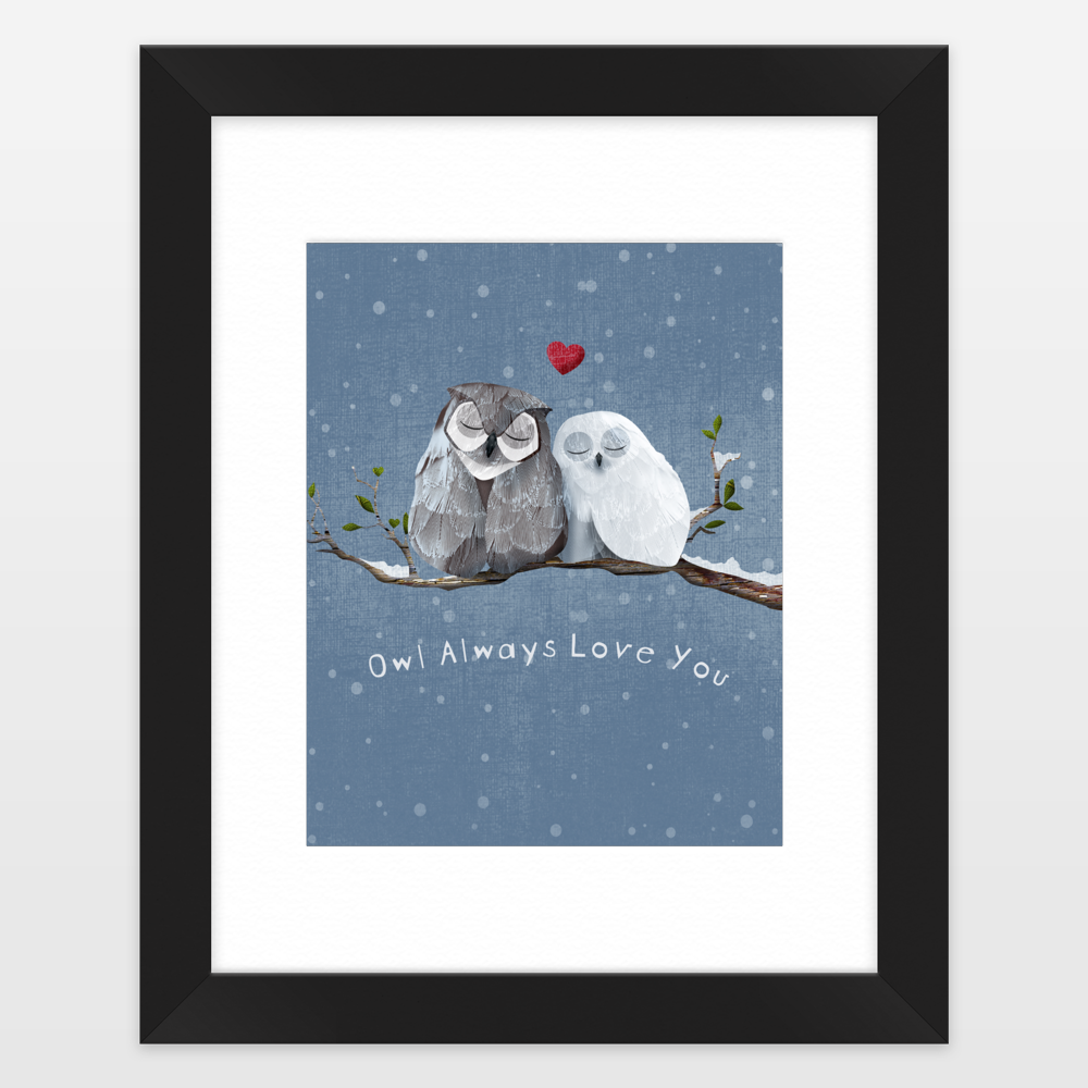 Owl Always Love You Framed Art Print by caramelexpressions on ...
