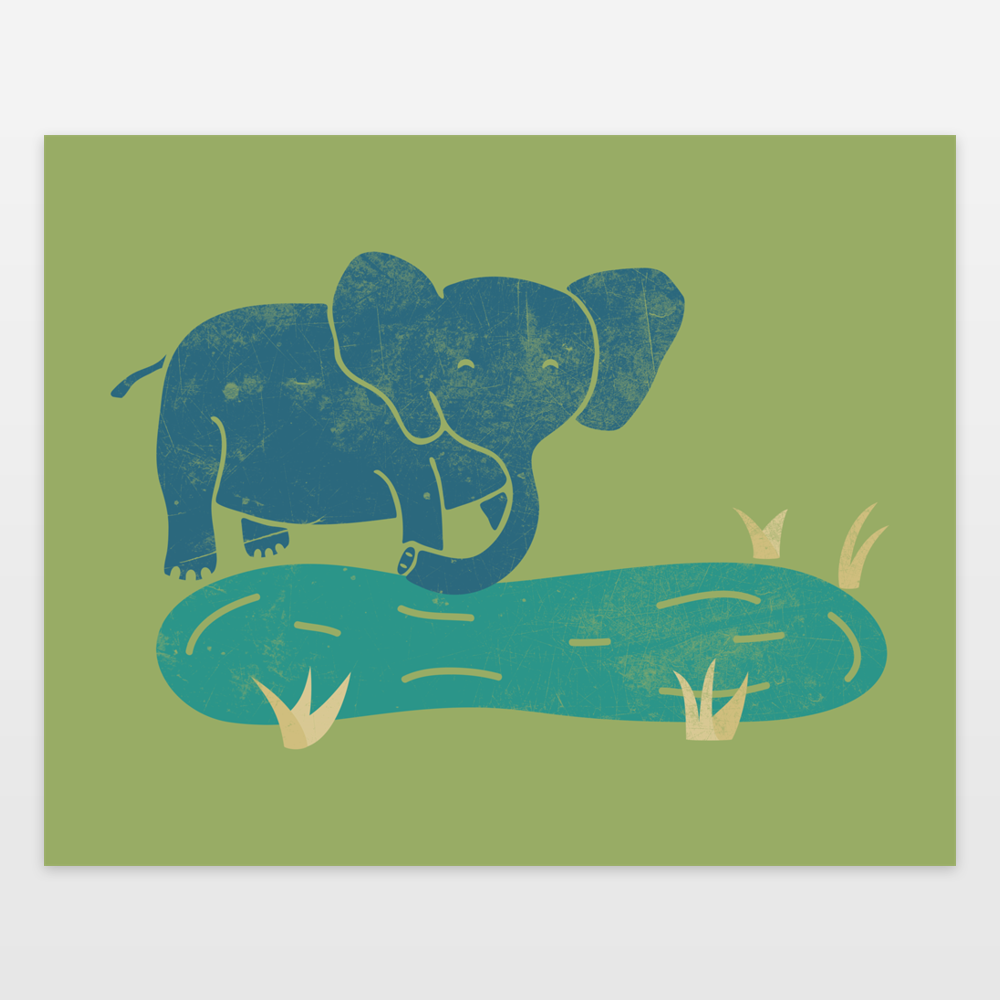 Elephant life art print by welldesigned on boomboomprints for 10 minute table runner 30 minute tote bag