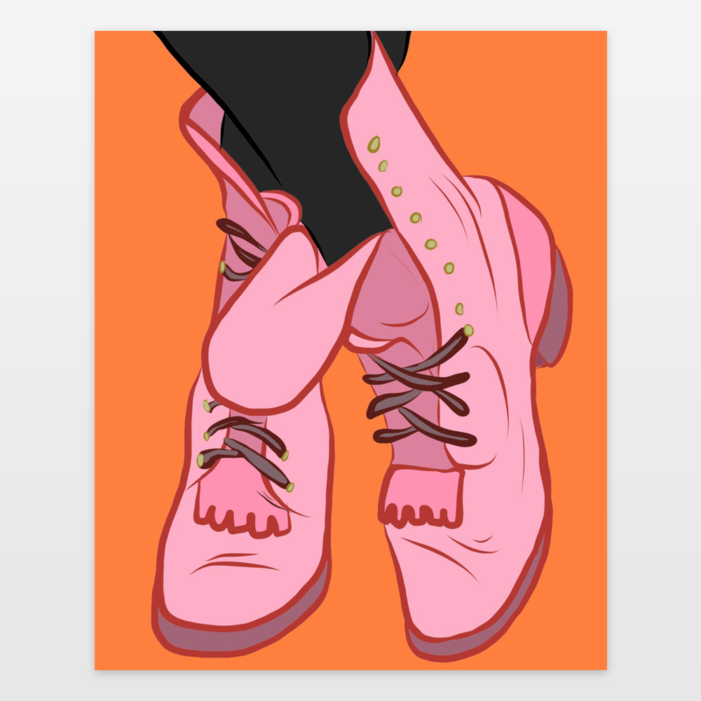 Pink Engineer Boots