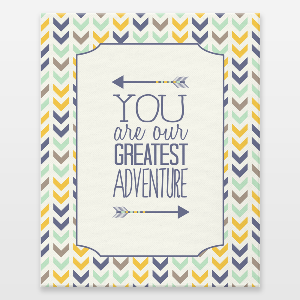 08 You Are Our Greatest Adventure Wrapped Canvas Print By