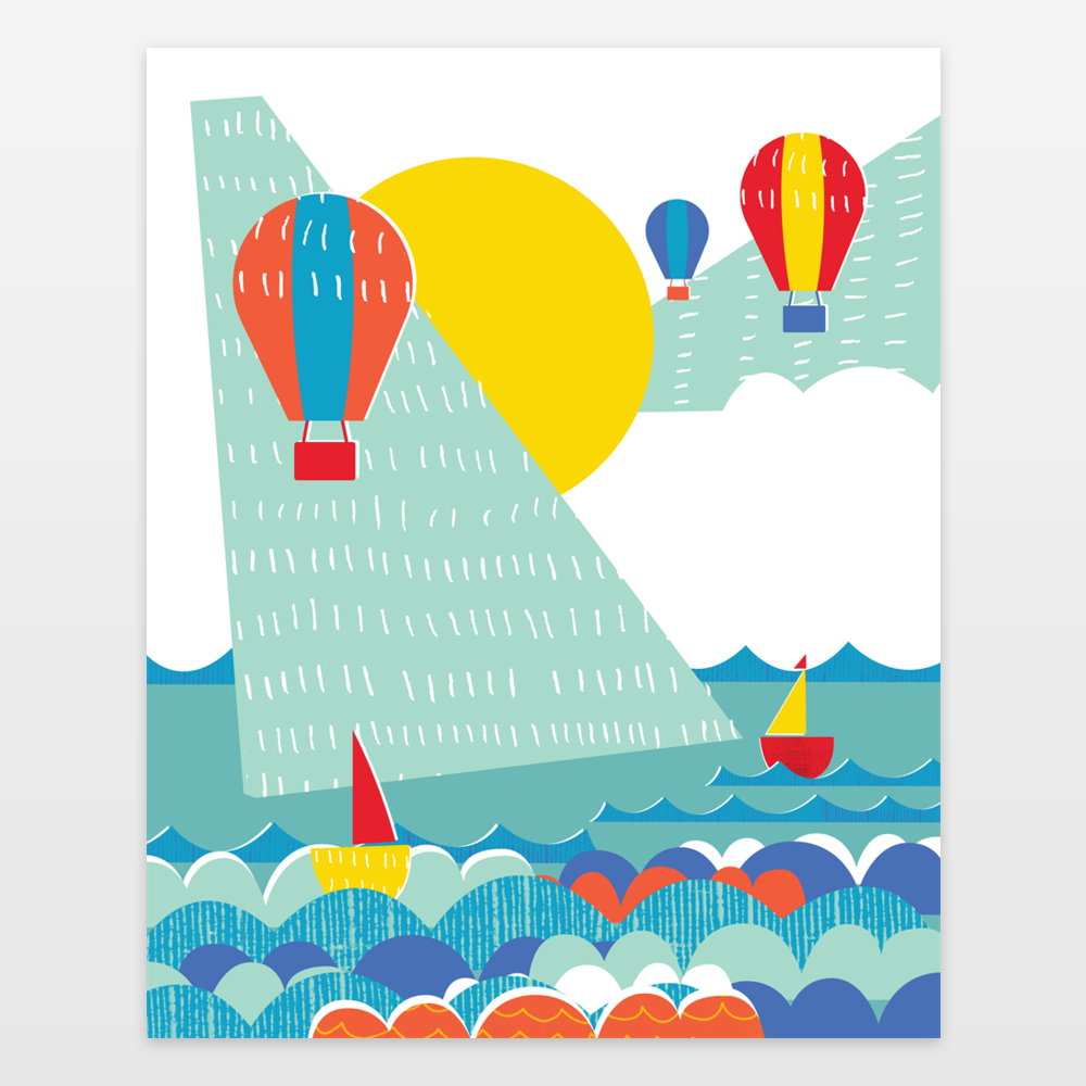 Sail Boats and Hot Air Balloons