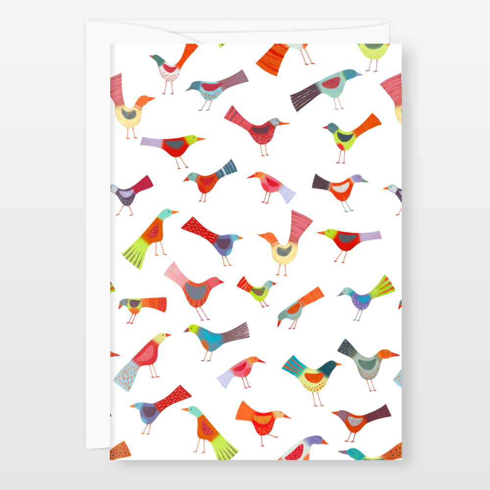 Birds doing Bird Things Stationery by BoomBoom Prints Artist Nic Squirrell