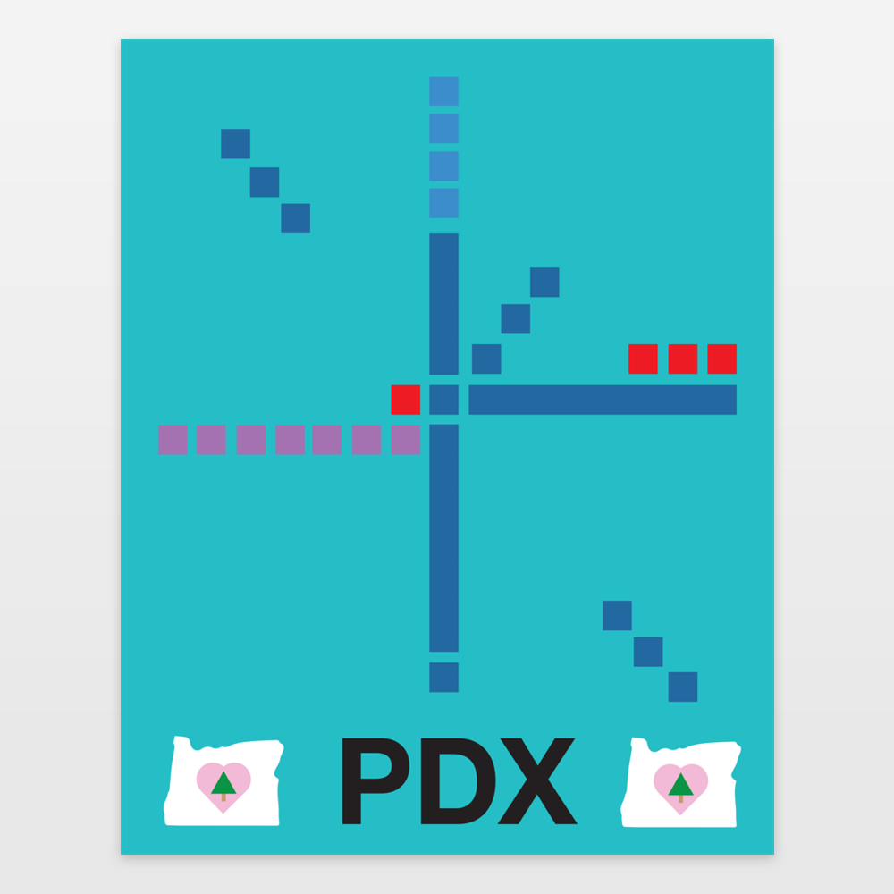 Portland Airport Carpet PDX Art Print By LenoreArts On