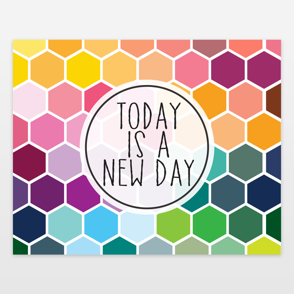 Today is a New Day Geometric