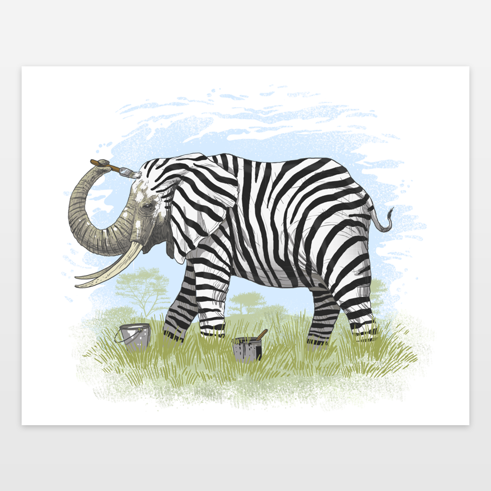 Be Yourself Or Be A Zebra Art Print By Oktopussapiens On