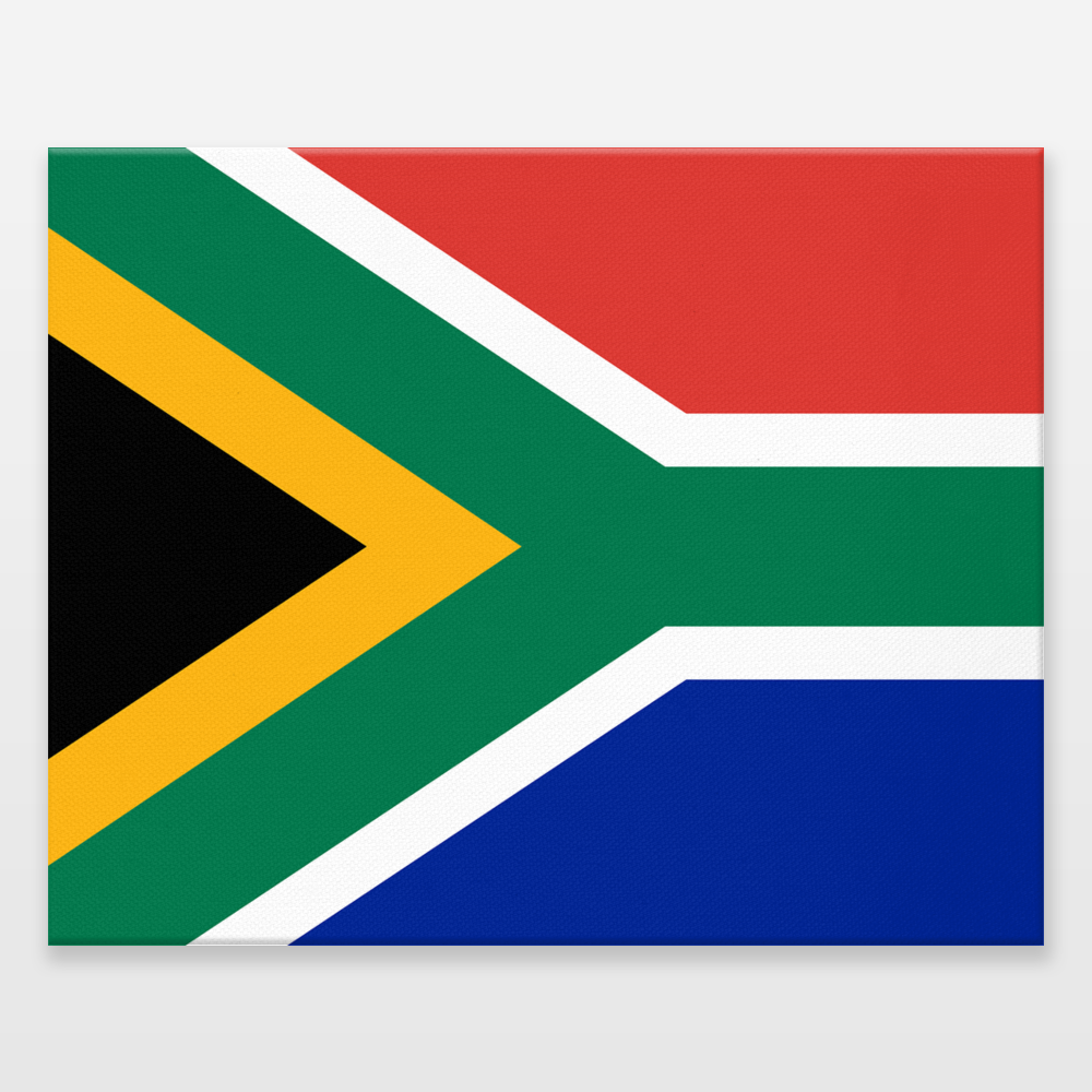 National Flag Of The South Africa Wrapped Canvas Print By